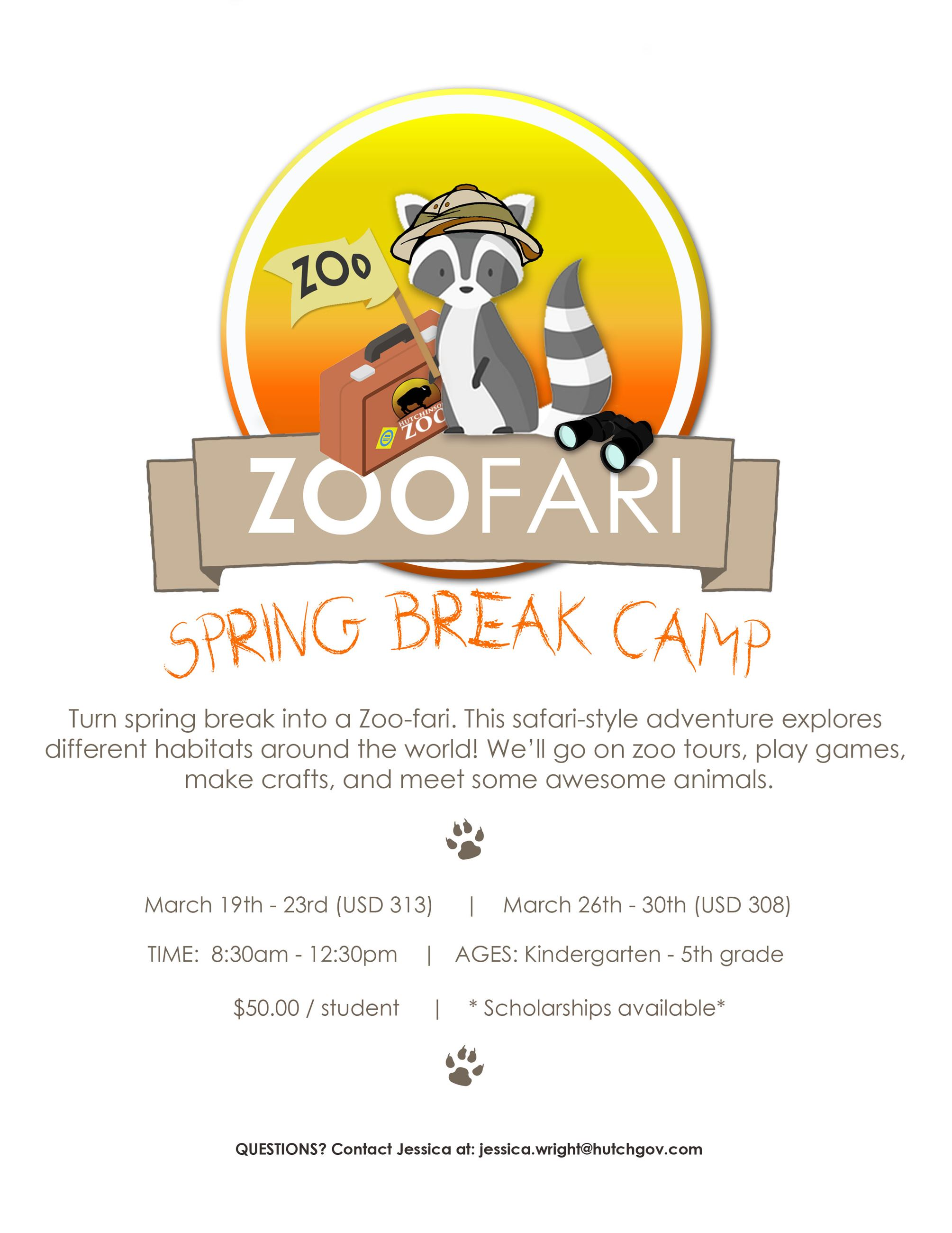 Zoofari Camp Flyer