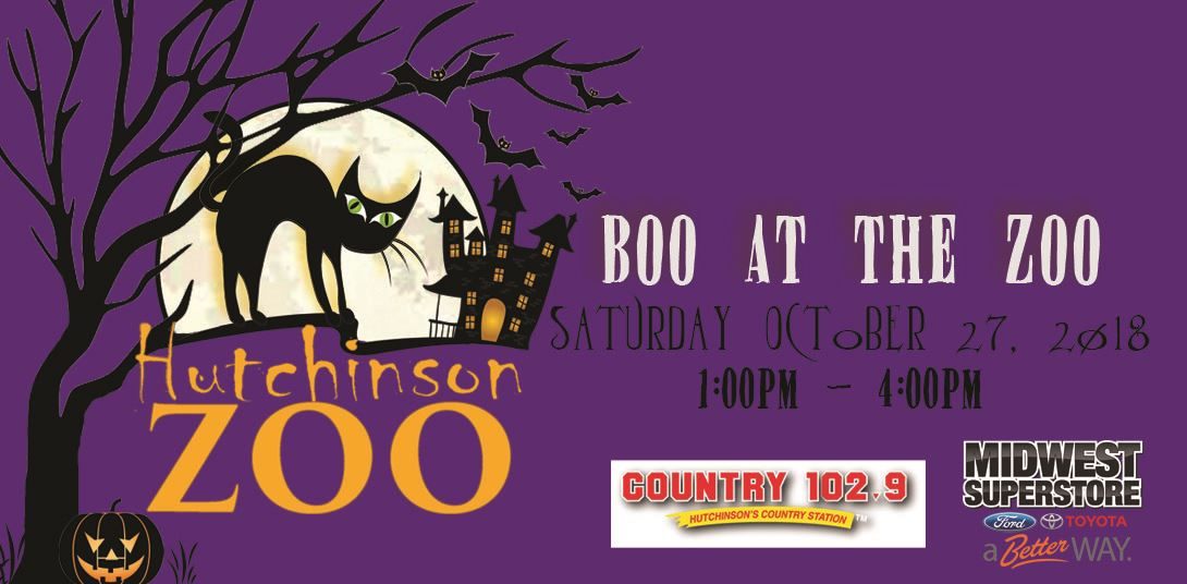boo at the zoo event banner 2018